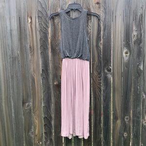 Ballet pink and grey midi dress